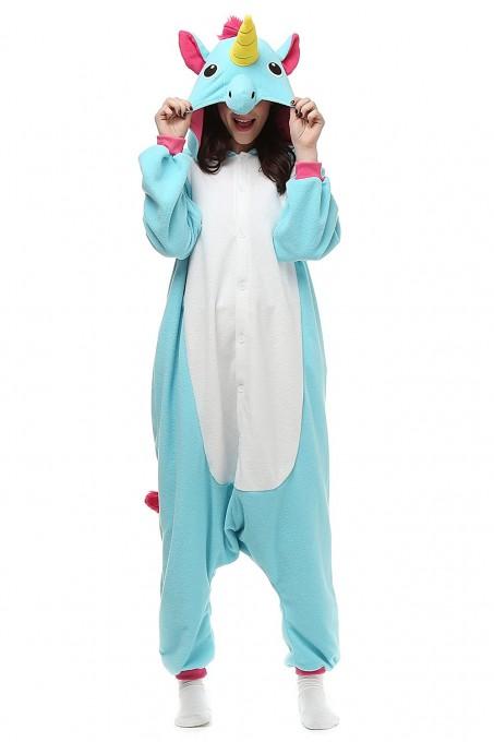 Blue Unicorn Onesies Kigurumi Pajamas For Adult