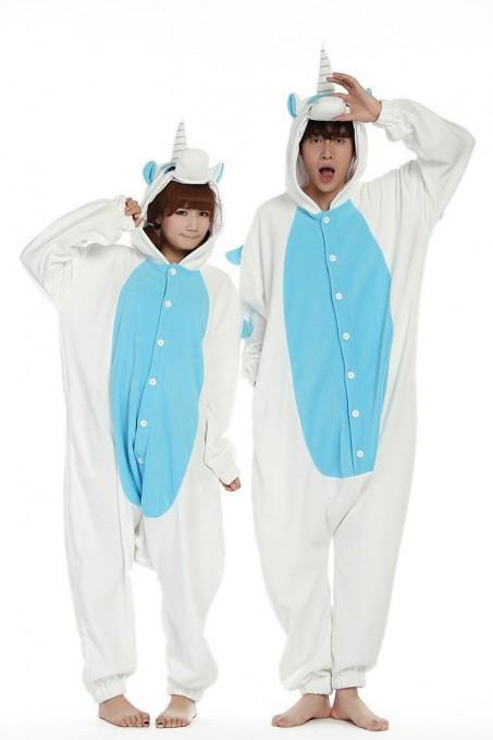 Blue Unicorn Kigurumi Onesie Pajama For Adult