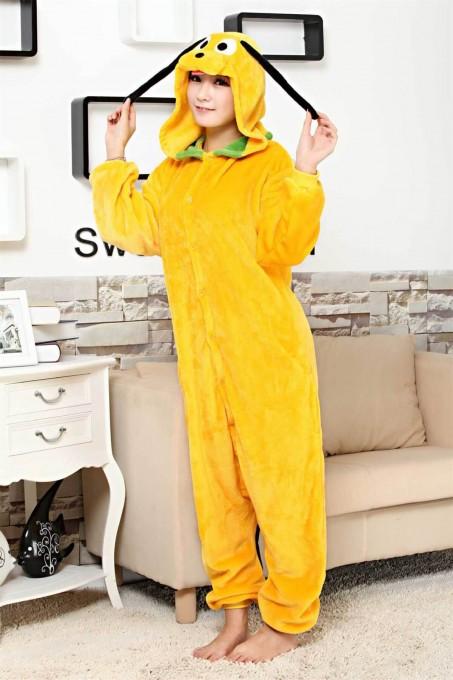 Unisex kigurumi Yellow Jake Dog onesies animal onesies pajamas