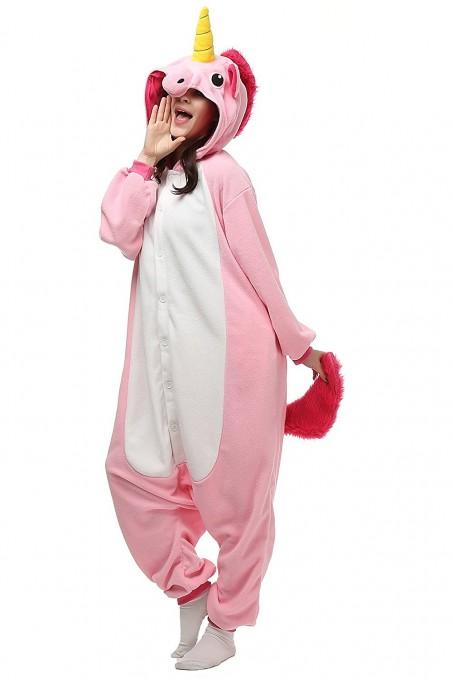 Pink Unicorn Onesies Kigurumi Pajamas For Adult