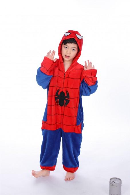 Red Blue Spider Man onesie pajamas for kids