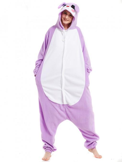 Purple Rabbit Onesie Animal Onesie Pajama For Adult