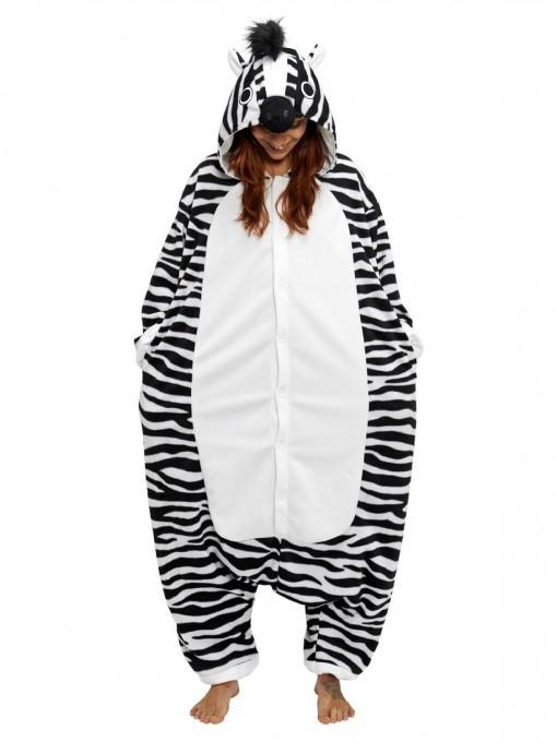 Zebra Kigurumi for Adult Animal Onesies Pajama