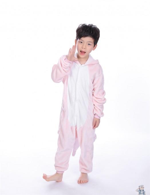 Pink Dinosaur animal kigurumi onesie pajamas for kids