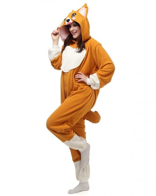 Corgi Dog Onesie Animal Onesie Pajama For Adult
