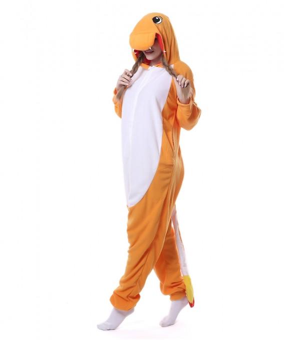 Charmander Onesie Pajama Unisex Animal Onesie Pajama