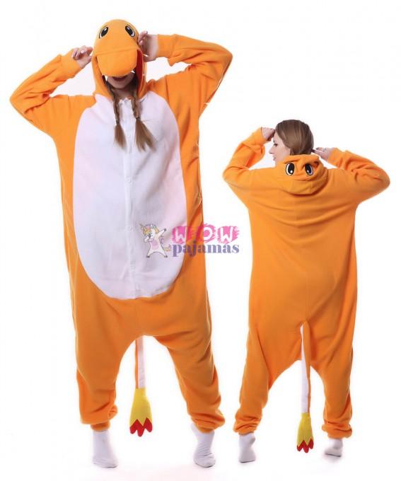 Charmander Onesie Pajama Animal Costumes For Women & Men