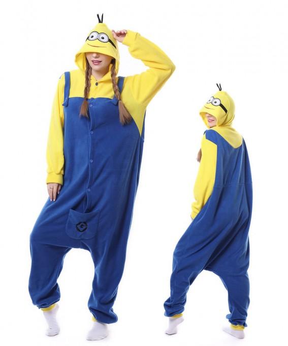 Unisex Cute Minions Onesie Pajama Winter Warm Animal Costume