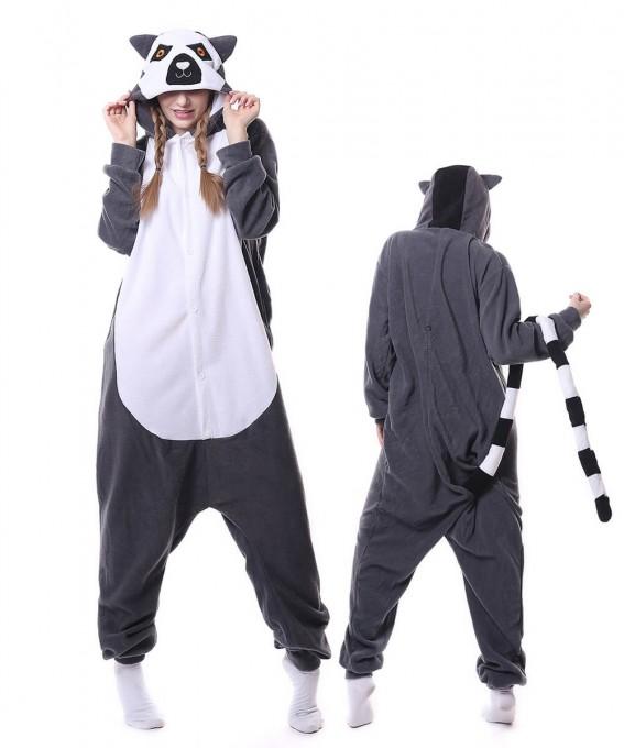 Lemur Onesie Pajama Animal Costumes For Women & Men