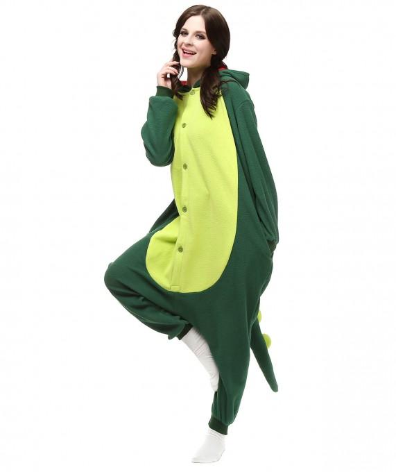 Green Dinosaur Onesie Animal Pajamas For Women & Men