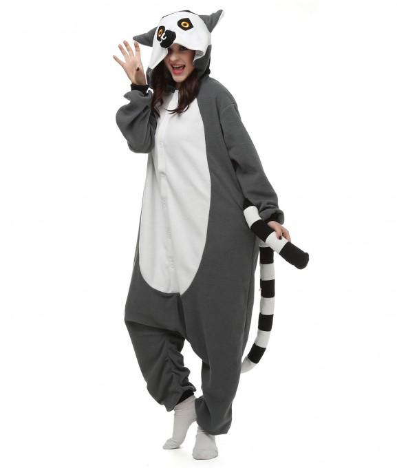 Lemur Onesie Pajama Animal Pajama For Adult