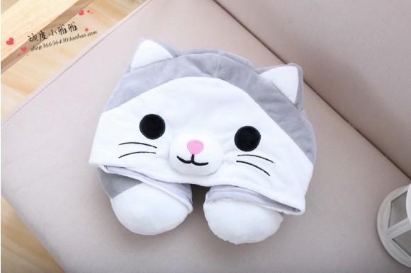 Cute Cat Neck Pillow For Women & Men