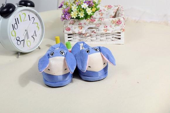 Blue Animal warm slippers Animal Onesies Pajamas Warm Plush Shoes