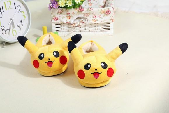 Pikachu warm slippers Animal Onesies Pajamas Warm Plush Shoes
