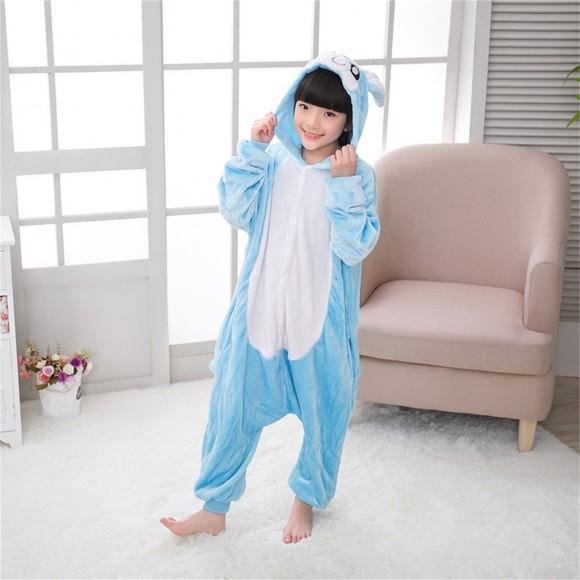 Blue Rabbit onesie pajamas for kids