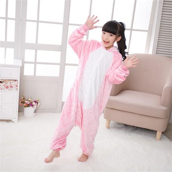 Pink Rabbit onesie pajamas for kids