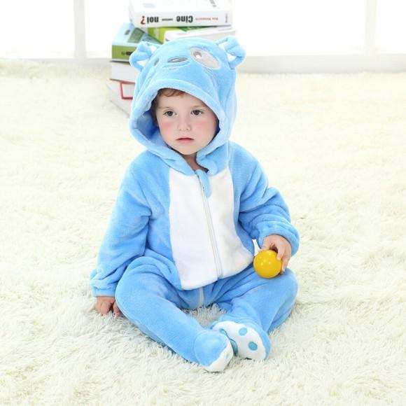 Baby Blue Dog Kigurumi Onesie Pajamas Animal Onesies Costume