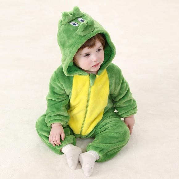 Baby Green Dinosaur Kigurumi Onesie Pajamas Animal Onesies Costume