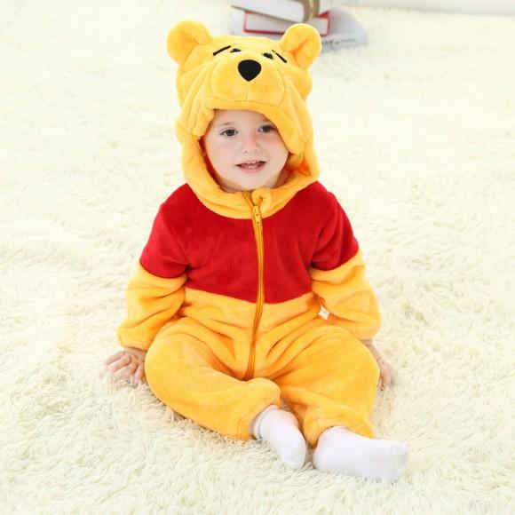 Baby Winnie the Pooh Kigurumi Onesie Pajamas Animal Onesies Costume