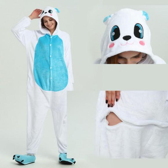Blue Rabbit Onesie Animal Onesie Pajama For Adult
