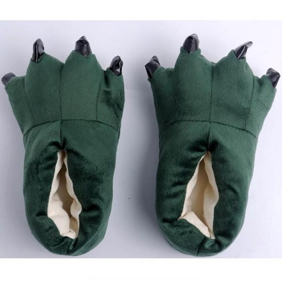 Dark Green Animal Onesies Kigurumi slippers Adult Plush Shoes