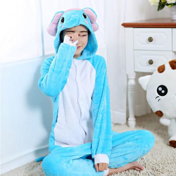 Elephant Onesie Animal Onesie Pajama For Adult