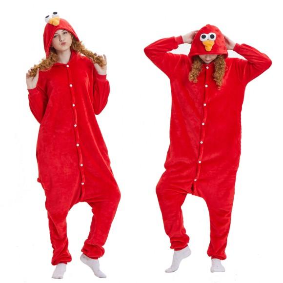 Kigurumi Elmo Onesie Pajamas Animal Onesies for Women & Men