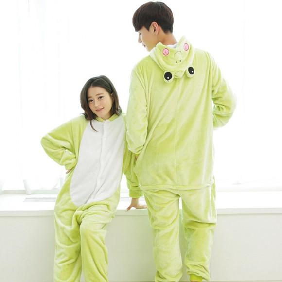 Frog Pajamas Animal Onesies Kigurumi Costume For Adult