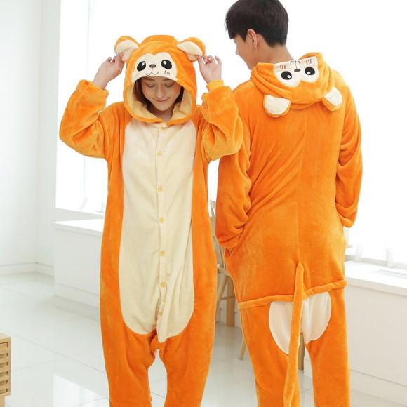 Golden monkey Pajamas Animal Onesies Kigurumi Costume