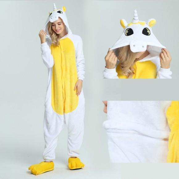 Golden Unicorn Onesie Animal Costumes For Women & Men