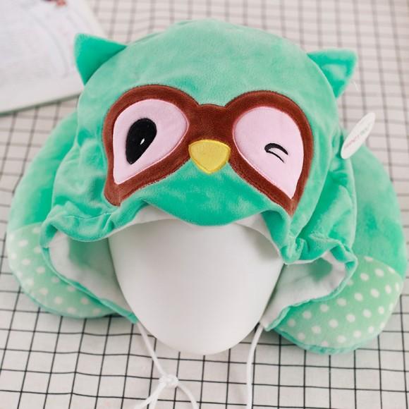Green Owl Neck Pillow For Women & Men