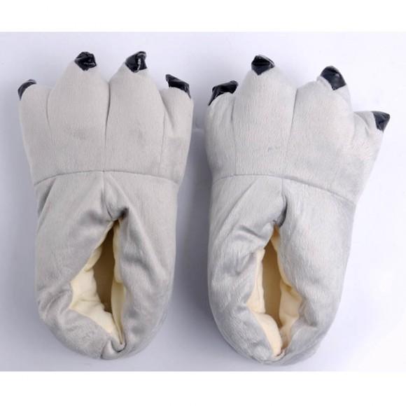 Grey Animal Onesies Kigurumi slippers Plush Shoes