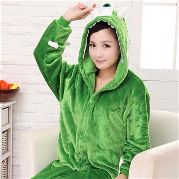 Unisex kigurumi Green Monsters Mike Wazowski onesies animal onesies pajamas