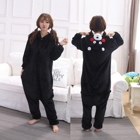 Kumamon Bear Onesie Animal Onesie Pajama For Adult