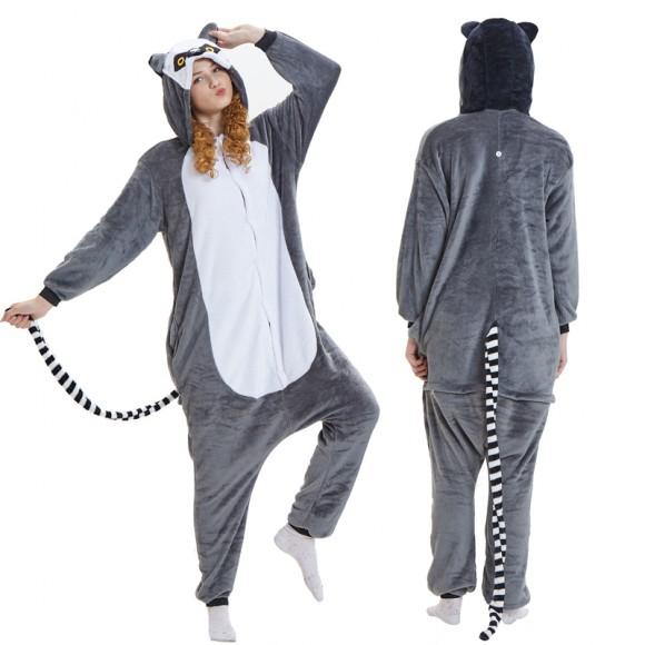 Lemur Catta Onesie for Adult Animal Onesies Pajama