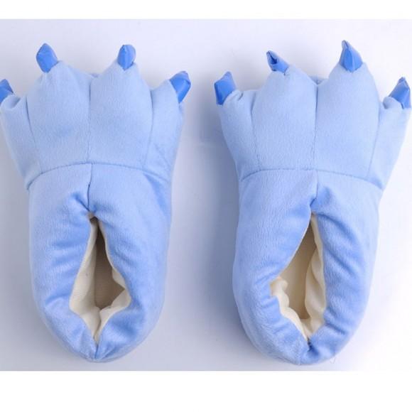 Light Blue Animal Onesies Kigurumi slippers Adult Plush Shoes