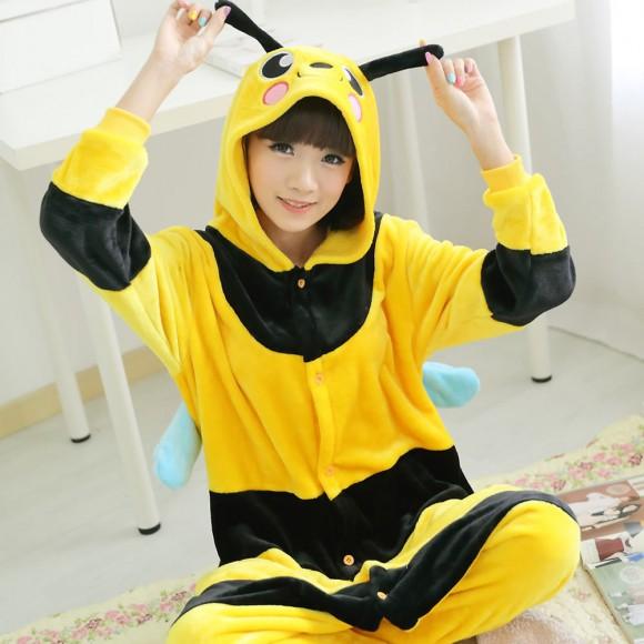 Kigurumi little bee Pajamas Animal Onesies Costume