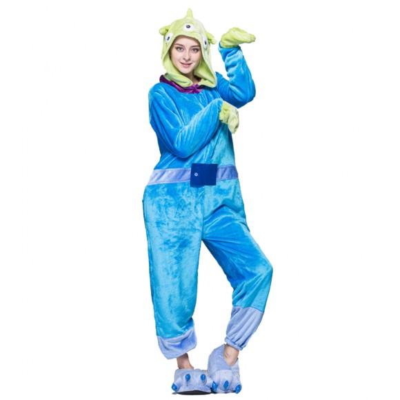 Little Green Man Onesie Pajamas Animal Costumes For Women & Men