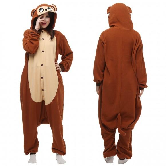 Kigurumi Monkey Onesie Pajamas Animal Onesies for Adult