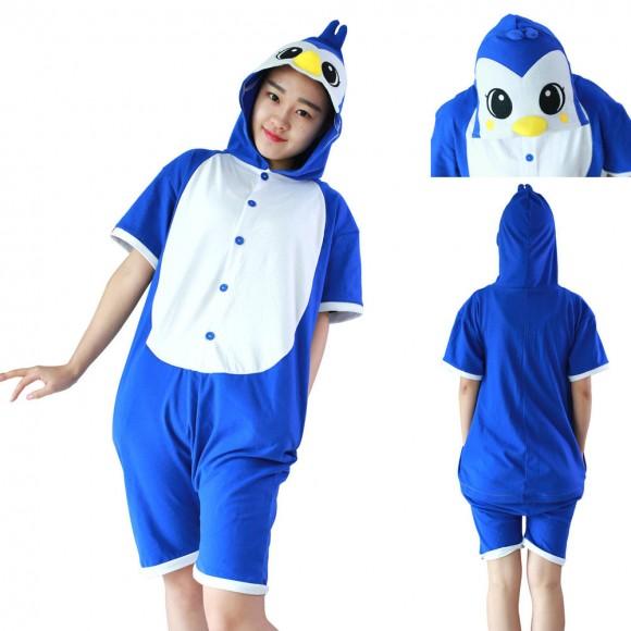 Penguin Kigurumi Animals cosplay costumes Pajamas Short Sleeve