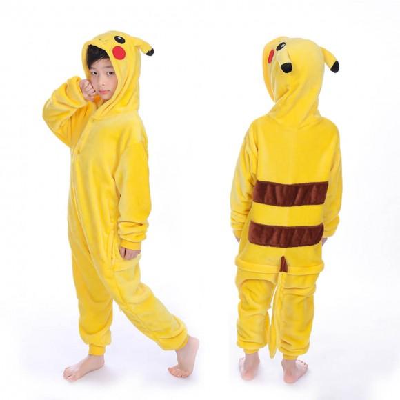 Pikachu Kids Onesie animal pajamas for kids