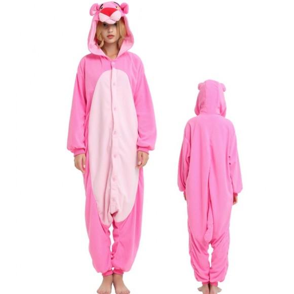 Kigurumi Pink Panther Onesie Animal Costumes For Adult & Kids