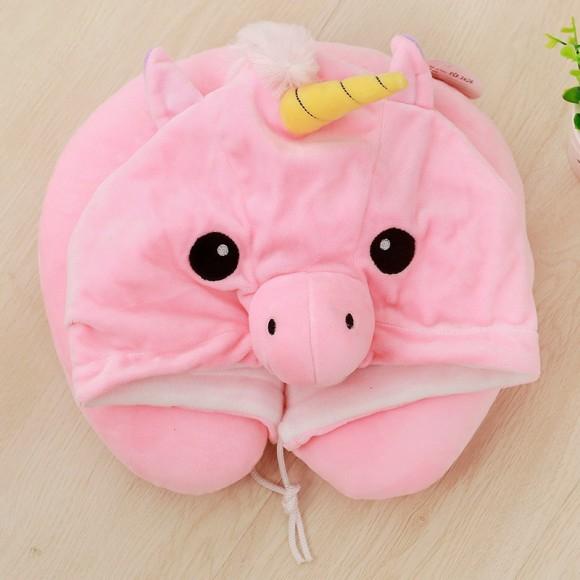 Cheap Pink Unicorn Neck Pillow For Women & Men