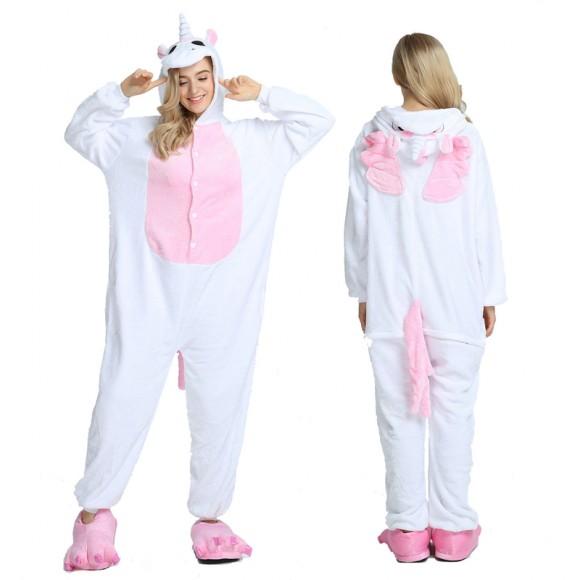 Pink Unicorn Onesie Pajama Animal Pajama For Women & Men