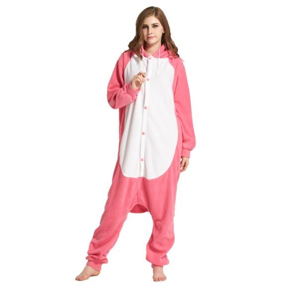 Kigurumi Pink Whale Onesie Pajamas Animal Onesies for Adult