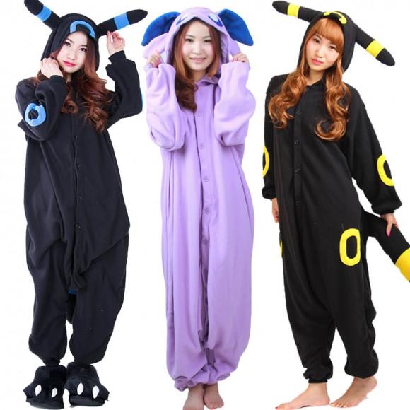 Pokemon Umbreon & Espeon Onesie Pajama For Adult & Teens