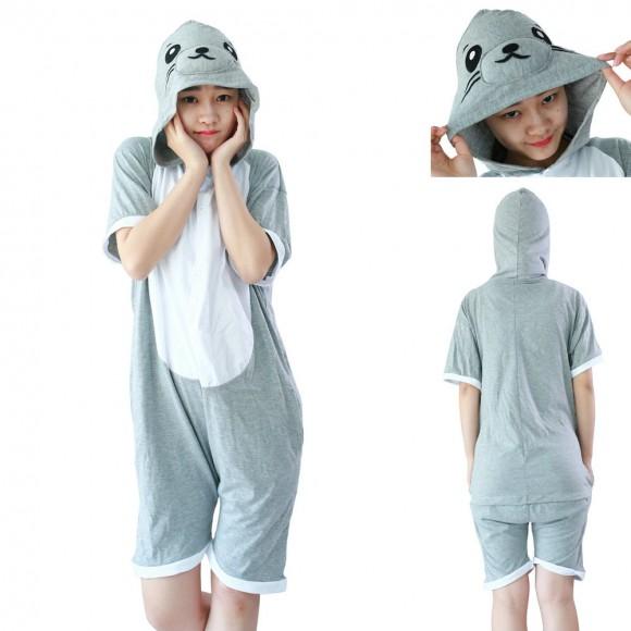 Seal Kigurumi Animals Pajamas Short Sleeve costume