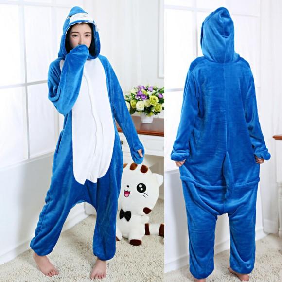 Shark Onesie for Adult Animal Onesies Pajama