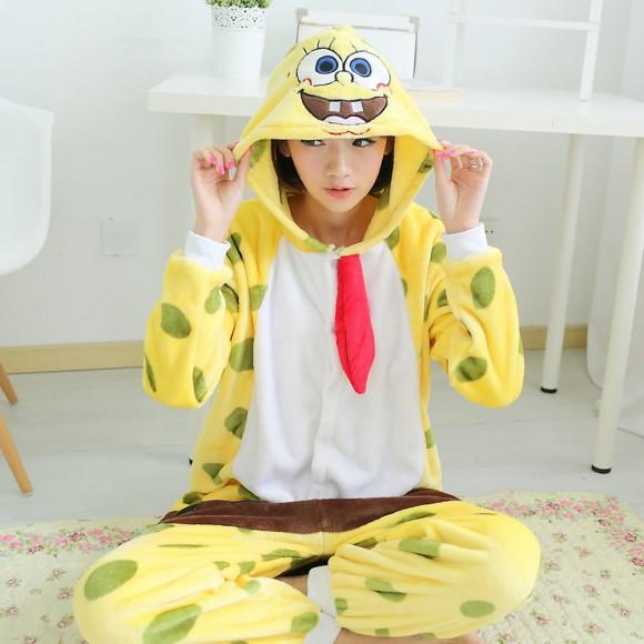 Kigurumi SpongeBob Pajamas Animal Onesies Costume