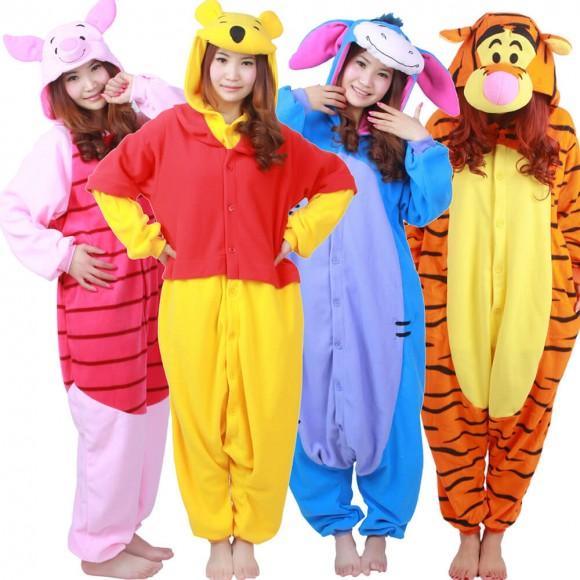 Winnie The Pooh Onesies & Tigger & Piglet & Eeyore Pajamas for Adult